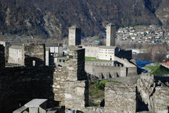 Bellinzona. View of Castelgrande Castle in Bellinzona, Switzerland Royalty Free Stock Images