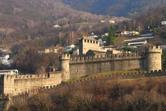 Bellinzona castle Stock Photography