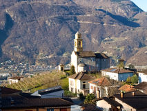 Bellinzona, the Church of Artore Royalty Free Stock Photo