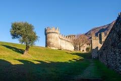 Bellinzona, Montebello Castle Stock Images