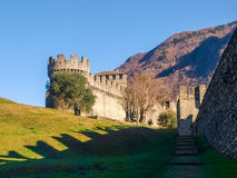 Bellinzona, Montebello Castle Stock Photography