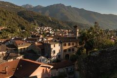 Bellinzona-Stadt in Tessin Lizenzfreie Stockfotos