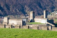 Bellinzona, view of Castelgrande Stock Photography