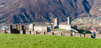 Bellinzona, view of Castelgrande Stock Photo