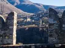 Bellinzona, view of the castle of Montebello Stock Photo
