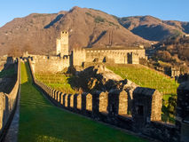 Bellinzona, walled of Castelgrande Royalty Free Stock Photography