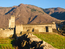 Bellinzona, walled of Castelgrande Royalty Free Stock Image