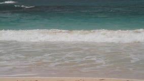 Bellissima baia di Atlantic Beach Antigua Half Moon video d archivio