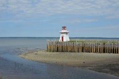 Belliveau Cove Lighthouse. Lighthouse on the pier at Belleveau Cove, Nova Scotia stock photos
