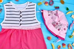 Bello abito rosa della neonata Immagine Stock Libera da Diritti