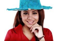 Bello adolescente che posa con un'immagine positiva Fotografia Stock Libera da Diritti