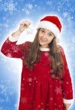 Bello adolescente di Natale Fotografie Stock Libere da Diritti