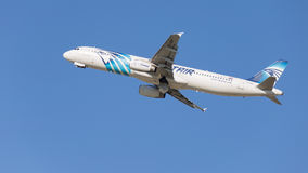 Bello Airbus A321-231 Egyptair Immagine Stock