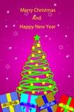 Bello albero di Natale Fotografie Stock