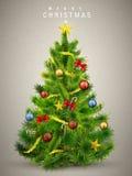 Bello albero di Natale decorato Fotografie Stock
