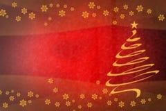 Bello albero di Natale di spirale dell'oro su festivo Fotografie Stock Libere da Diritti