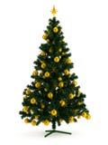 Bello albero di Natale su bianco Immagine Stock
