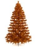 Bello albero di Natale su bianco Fotografia Stock