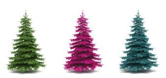 Bello albero un pelliccia-albero Immagine Stock Libera da Diritti