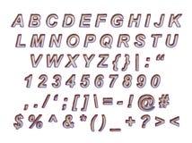 Bello alfabeto da tagliare Immagini Stock