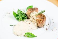 Bello alimento del ristorante Fotografie Stock Libere da Diritti