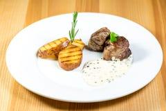 Bello alimento del ristorante Fotografia Stock