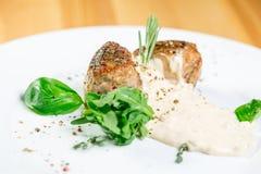 Bello alimento del ristorante Fotografie Stock