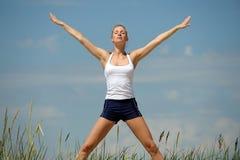 Bello allenamento femminile Immagine Stock Libera da Diritti