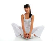 Bello allungamento di forma fisica della donna Immagine Stock