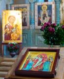 Bello altare della chiesa di Georgia Immagine Stock Libera da Diritti
