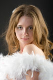 Bello angelo bianco Fotografia Stock Libera da Diritti