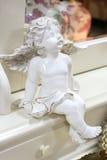 Bello angelo bianco Fotografia Stock