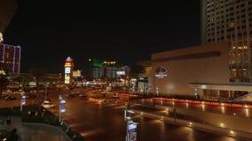 Bello angolo di strada alla striscia di Las Vegas - vista di notte - U.S.A. 2017 archivi video