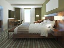 Bello appartamento ammobiliato, camera da letto comoda Immagini Stock Libere da Diritti
