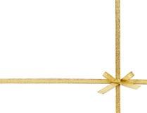 Bello arco dell'oro su bianco Immagini Stock Libere da Diritti