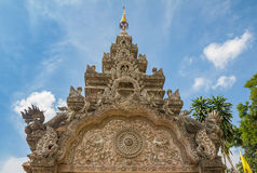Bello arco della Tailandia del primo mondo Immagini Stock
