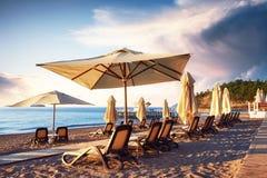 Bello argine per la camminata e lo sport in Amara Dolce Vita Luxury Hotel Alanya Turchia immagine stock libera da diritti