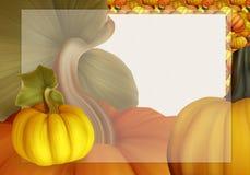 Bello Autumn Background Card con le zucche a colori i colori caldi Immagine Stock Libera da Diritti