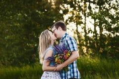 Bello baciare all'aperto immagine stock libera da diritti