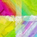 Bello backg di schizzo della pittura di effetto giallo rosa verde di struttura Fotografia Stock