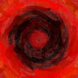 Bello backgr di schizzo della pittura di effetto nero arancio rosso di struttura Fotografia Stock