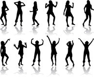 Bello ballare delle donne Immagine Stock