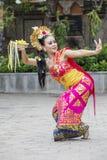 Bello ballerino che esegue ballo tradizionale di balinese fotografia stock