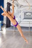 Bello ballerino del palo Fotografia Stock
