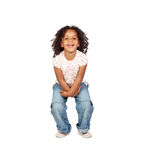 Bello bambino africano con i jeans Fotografie Stock Libere da Diritti