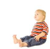 Bello bambino che osserva in su Immagine Stock Libera da Diritti