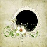 Bello blocco per grafici della sorgente con i fiori di melo illustrazione di stock