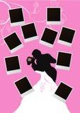 bello blocco per grafici nuziale di foto delle coppie Fotografia Stock Libera da Diritti
