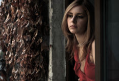 Bello blonde Fotografia Stock Libera da Diritti