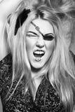 Bello blonde con pirat astratto Immagini Stock Libere da Diritti